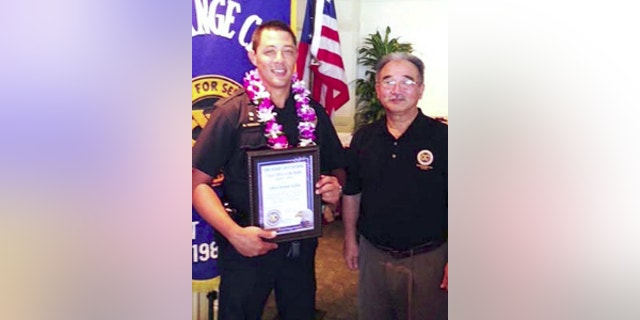 "Kaliloa, a 10-year police veteran, was honored as the ""Officer of the Month"" in April 2014."