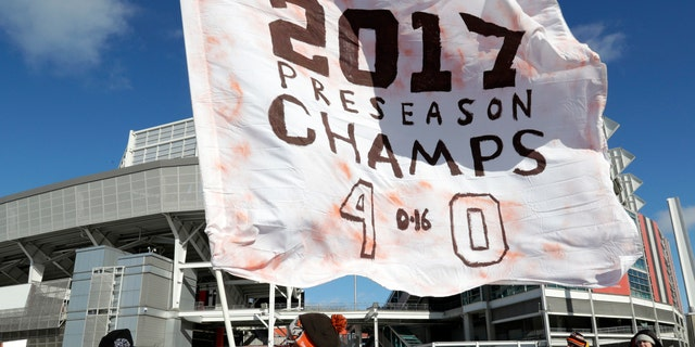 The Browns won all four of their preseason games before losing all 16 regular season games.