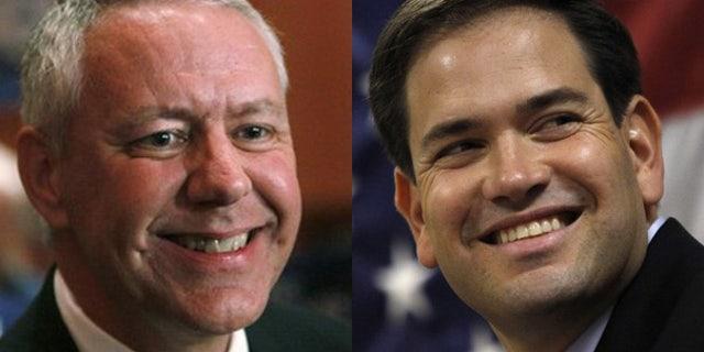 Colorado Republican Senate candidate Ken Buck, left, and Florida Republican Senate candidate Marco Rubio