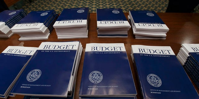 March 4, 2014: Copies of President Obama's proposed fiscal 2015 budget are set out for distribution by the Senate Budget Committee on Capitol Hill.