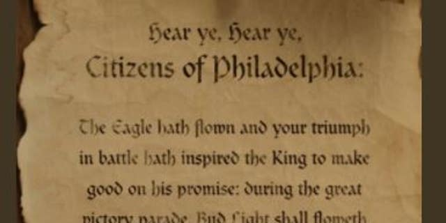 "In keeping with the theme of its medieval ad campaign, Bud Light released a ""scroll"" announcing that it would honor its earlier promise."
