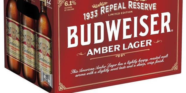 As emblazoned on the side of the 1933 Repeal Reserve case, the new Bud will boast an abv of 6.1 percent.