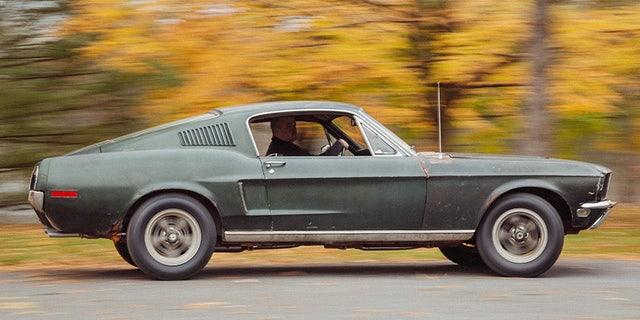 Sean Kiernan at the wheel of the nearly all-original 'Bullitt' Mustang.