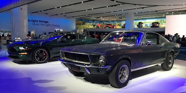 The original 'Bullitt' Mustang was unveiled alongside the 2018 tribute model at the Detroit Auto Show.