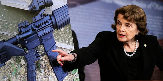 "Feinstein said only broader legislation would be effective in outlawing ""bump stocks"" like the Las Vegas gunman used."