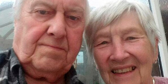 Raymond Massey and his wife  Barbara were celebrating their second wedding anniversary.