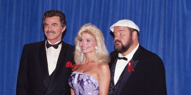 Burt Reynolds, Loni Anderson and Dom DeLuise at The 43rd Primetime Emmy Awards on August 25, 1991 at Pasadena Civic Auditorium in Pasadena, California.