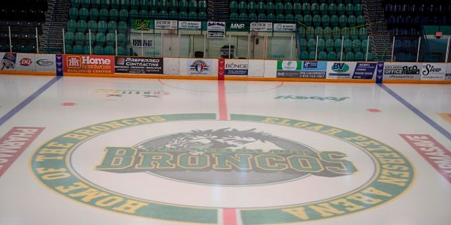 A photo of the arena where the Humboldt Broncos play in Saskatchewan, Canada.