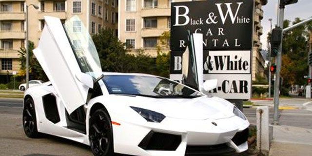 You can rent a $400,00 Lamborghini Aventador LP700-4 at Black & White Car Rental in LA.