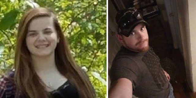 Police are searching for 15-year-old Trinity Quinn (left) and Daniel Clark, 28. Clark is suspected of fatally shooting a gas station clerk.