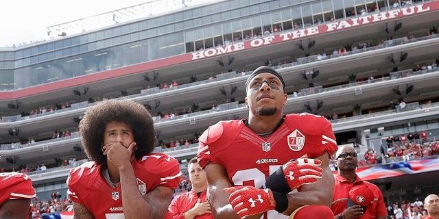 Colin Kaepernick sparked the national anthem debate.