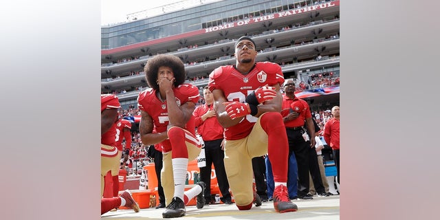 Colin Kaepernick sparked the national anthem debate.