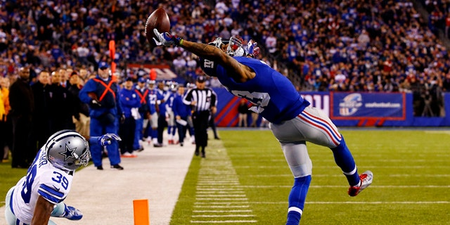 This catch against the Dallas Cowboys in his rookie year established Beckham as one of the best young receivers in football.