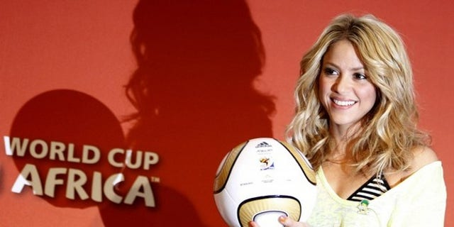 Shakira at the Soccer City stadium in Johannesburg July 10, 2010. (Reuters)