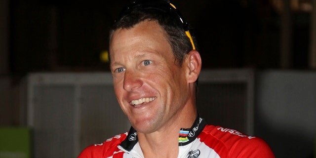 Jan. 24: Lance Armstrong prepares for a fundraising ride through the streets of Brisbane, Australia.