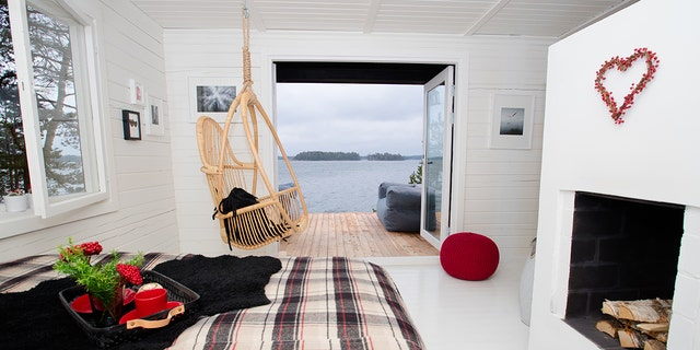 Nestled off coast of Finland in the Baltic Sea, the 8.4-acre island will house 10 guest cabins.