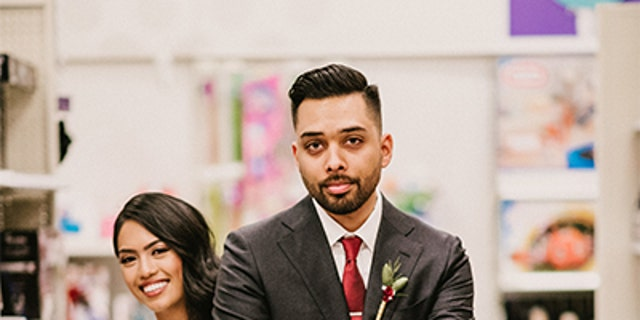 """""""It's too bad we can't throw our reception in Target because then that would truly be the frosting on the Market Pantry cake,"""" the groom said."""