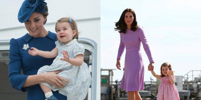 Duchess Kate and Princess Charlotte have previously stepped out in color complimentary outfits.
