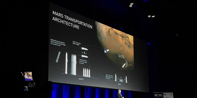 Elon Musk, founder and Chief Executive Officer (CEO) and lead designer of SpaceX, and also CEO and co-founder of Tesla, speaks during a media conference at the International Astronautical Congress (IAC) in Adelaide, Australia September 29, 2017. (REUTERS/Sonali Paul)