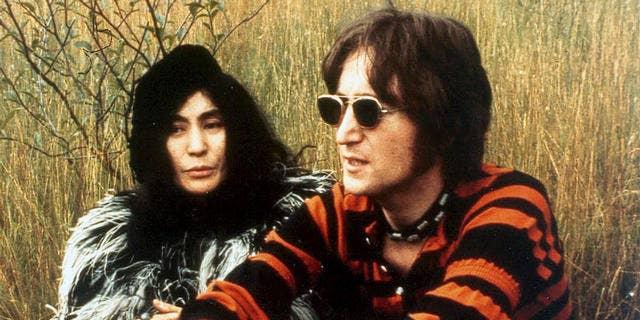 Yoko Ono and John Lennon are shown in 1970.