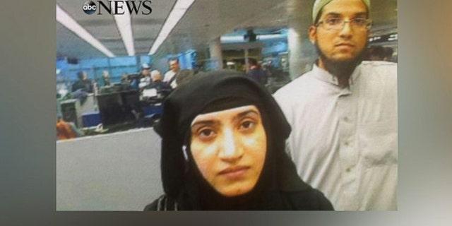 San Bernardino terrorists Tashfeen Malik and Syed Farook killed 14 in an attack last December.