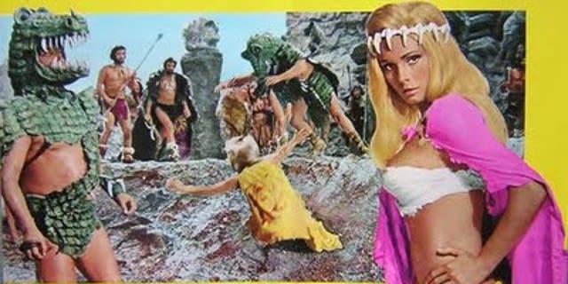"Victoria Vetri (aka Angela Dorian) in 1970's ""When Dinosaurs Ruled the Earth."""
