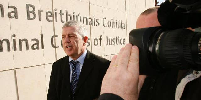 Liam Adams, Gerry Adams' brother, arrives at the High Court in Dublin, Ireland, on March 10, 2010