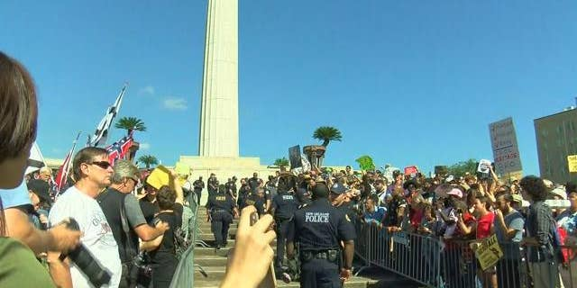 The demonstrations saw some arrests but were largely peaceful.