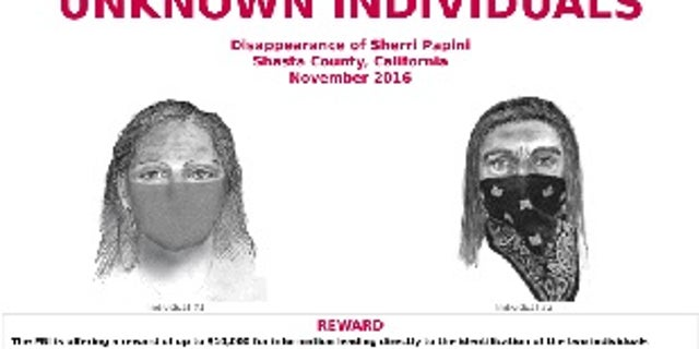 The FBI poster of the suspects in the kidnapping of Sherri Papini.
