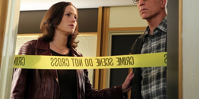 "Jorja Fox, left, and Ted Danson appear on ""CSI: Crime Scene Investigation."""