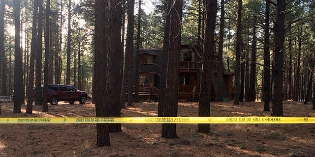 The cabin in Parks, Ariz. where a family of four was found dead on New Year's Day.