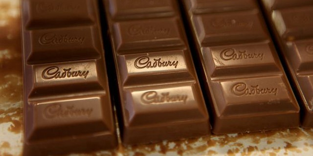 Nov. 20, 2009: Chocolate moves down the production line at the Cadbury factory in Birmingham, England.