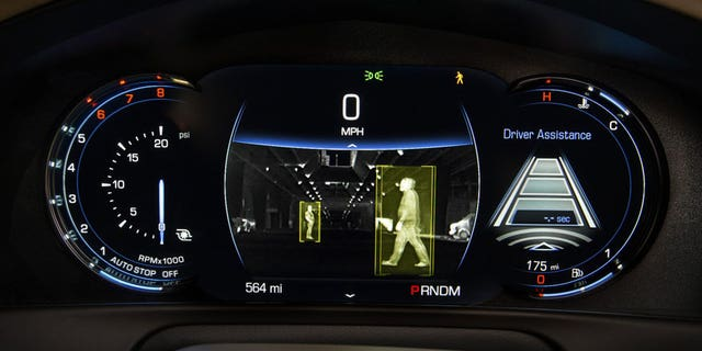 Cadillac CT6 pedestrian detection system