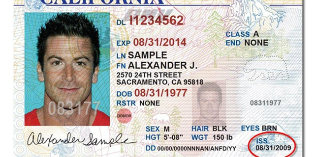 If a state Senate bill receives Gov. Jerry Brown's signature, California driver's licenses will offer a third gender option. Above is a sample California license.