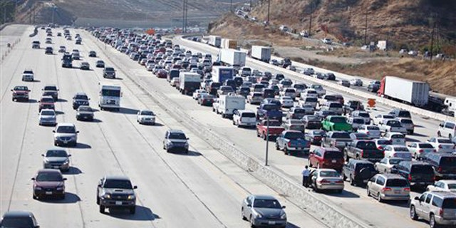 Shown here is California's Interstate 5 near Los Angeles on July 23. (AP Photo)