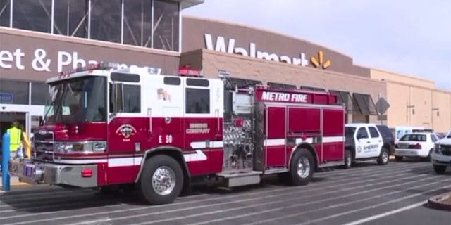 Police arrested a man after he started a fire in a California Walmart.