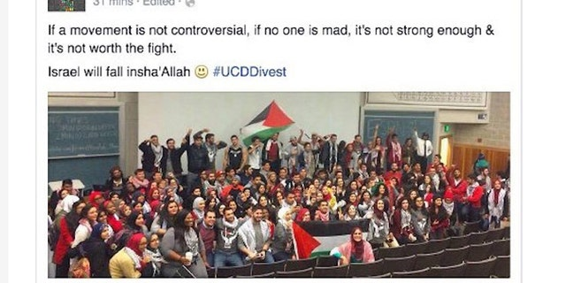 Jewish activists are frightened by the anti-Semitic climate at University of California. (Twitter)