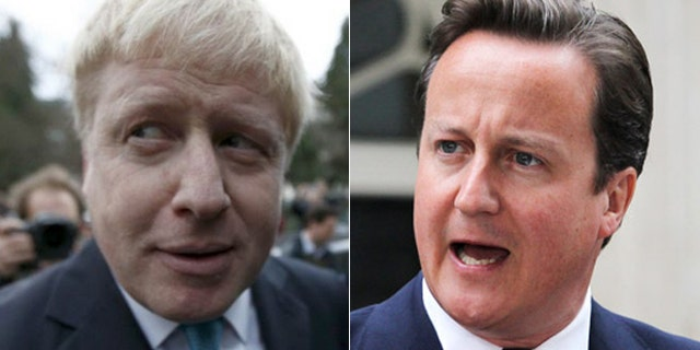 "Boris Johnson, (l.), could replace Cameron, (r.), as prime minister, after his ""leave"" side won."
