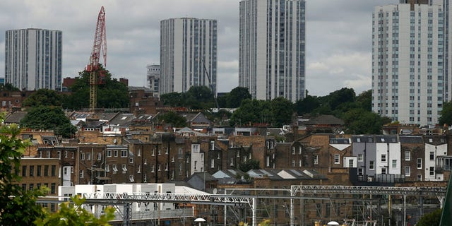 A general view of the housing towers of the Chalcots Estate in the borough of Camden, north London.