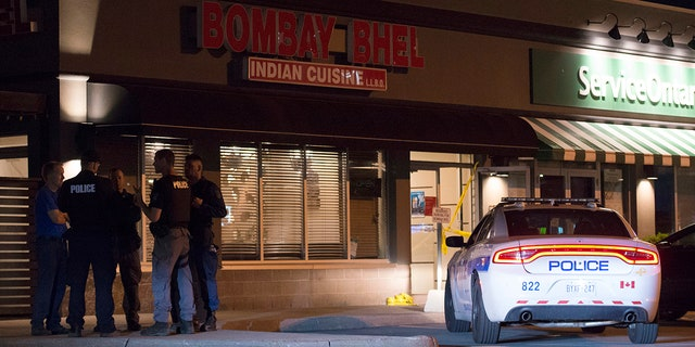 Canadian police say an explosion set off deliberately in a restaurant has wounded a number of people.