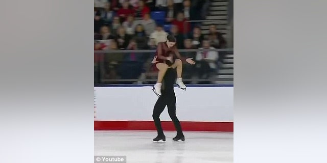 Tessa Virtue and Scott Moir of Canada compete at the Canadian Skating Nationals.