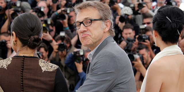 May 15, 2013: Jury member Christoph Waltz poses for photographers during a photo call for the jury at the 66th international film festival, in Cannes, southern France.