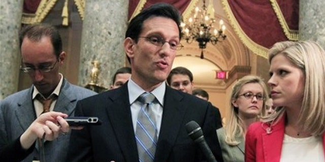 In this Aug. 1 photo, House Majority Leader Eric Cantor leaves the House chamber in Washington.