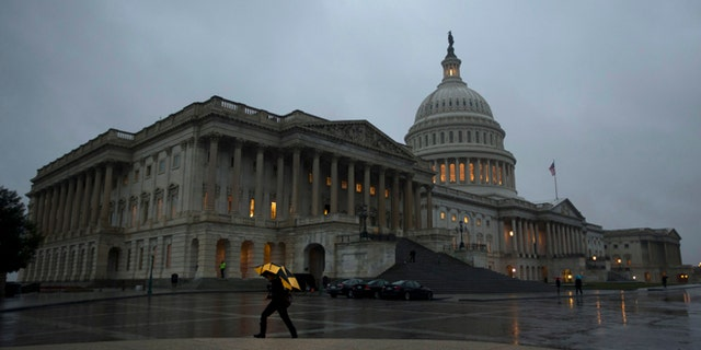 Oct. 11, 2013: The U.S. Capitol Building is pictured at sunset in Washington.