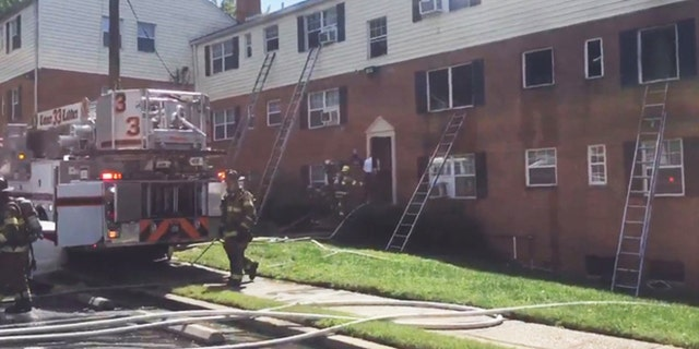 A pregnant woman was critically burned after being set on fire by her boyfriend in her suburban Maryland apartment, police say.