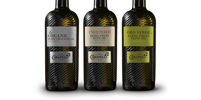 Trio of artisan olive oils