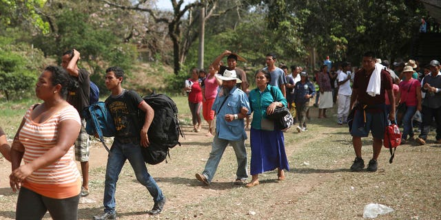 Groups of people are reportedly seeking asylum in Mexico while others will be continuing their journey north.