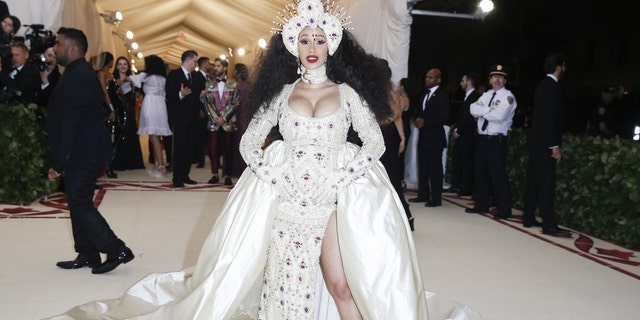 Cardi B during the 2018 Met Gala.