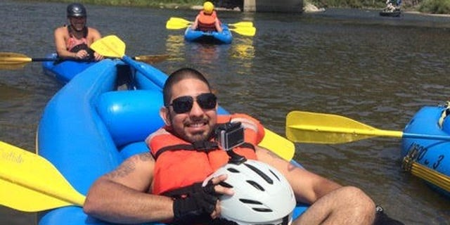 Carlos Gomez, a combat-wounded veteran, kayaking down the Colorado River with No Boundaries in 2013. For Gomez and many other amputees like him, the trip is a mission of sorts that requires tough physical and mental training on the mountains and off the battlefields.