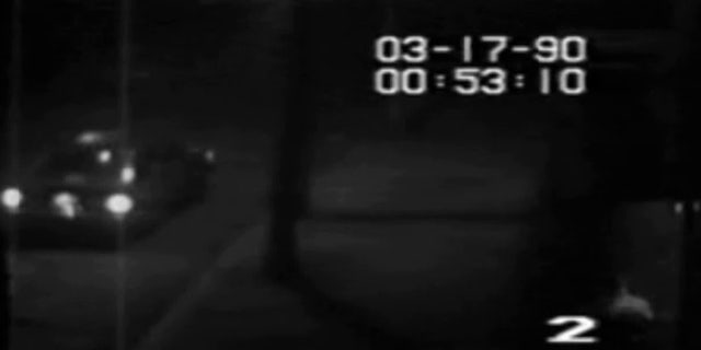 The video footage 24 hours before the Gardner heist, shows an automobile pull up next to a rear entrance of the Museum. The car matches the general description of a vehicle that was reported to have been parked outside the Museum moments prior to the theft on March 18, 1990.